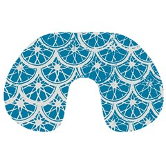 Lime Blue Star Circle Travel Neck Pillows