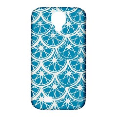 Lime Blue Star Circle Samsung Galaxy S4 Classic Hardshell Case (pc+silicone) by Alisyart