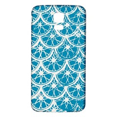 Lime Blue Star Circle Samsung Galaxy S5 Back Case (white)