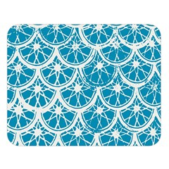 Lime Blue Star Circle Double Sided Flano Blanket (large)  by Alisyart