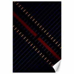 Material Design Stripes Line Red Blue Yellow Black Canvas 12  X 18   by Alisyart