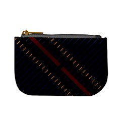 Material Design Stripes Line Red Blue Yellow Black Mini Coin Purses