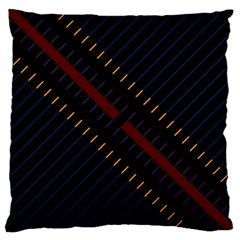 Material Design Stripes Line Red Blue Yellow Black Large Cushion Case (one Side)