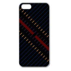 Material Design Stripes Line Red Blue Yellow Black Apple Seamless Iphone 5 Case (clear)