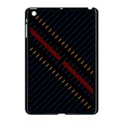 Material Design Stripes Line Red Blue Yellow Black Apple Ipad Mini Case (black) by Alisyart