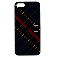 Material Design Stripes Line Red Blue Yellow Black Apple Iphone 5 Hardshell Case With Stand by Alisyart
