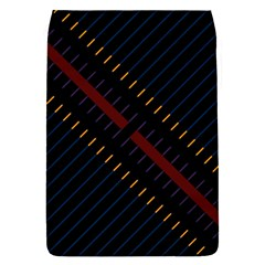 Material Design Stripes Line Red Blue Yellow Black Flap Covers (s)  by Alisyart