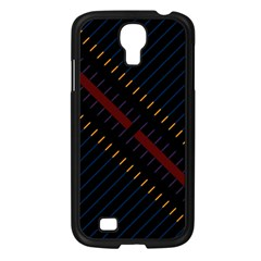 Material Design Stripes Line Red Blue Yellow Black Samsung Galaxy S4 I9500/ I9505 Case (black) by Alisyart