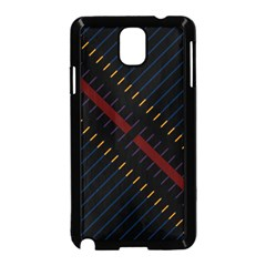 Material Design Stripes Line Red Blue Yellow Black Samsung Galaxy Note 3 Neo Hardshell Case (black)