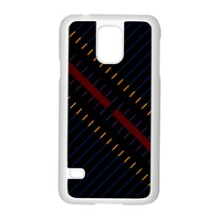 Material Design Stripes Line Red Blue Yellow Black Samsung Galaxy S5 Case (white)