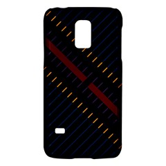 Material Design Stripes Line Red Blue Yellow Black Galaxy S5 Mini