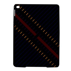 Material Design Stripes Line Red Blue Yellow Black Ipad Air 2 Hardshell Cases by Alisyart