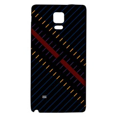 Material Design Stripes Line Red Blue Yellow Black Galaxy Note 4 Back Case by Alisyart