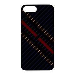 Material Design Stripes Line Red Blue Yellow Black Apple Iphone 7 Plus Hardshell Case by Alisyart