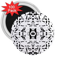 Nums Seamless Tile Mirror 3  Magnets (100 Pack)