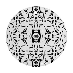 Nums Seamless Tile Mirror Round Ornament (two Sides)