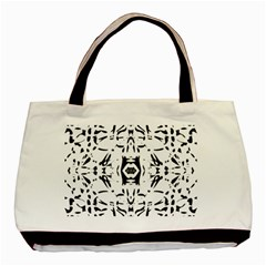 Nums Seamless Tile Mirror Basic Tote Bag (two Sides) by Alisyart