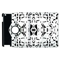 Nums Seamless Tile Mirror Apple Ipad 3/4 Flip 360 Case by Alisyart