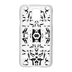 Nums Seamless Tile Mirror Samsung Galaxy S5 Case (white)