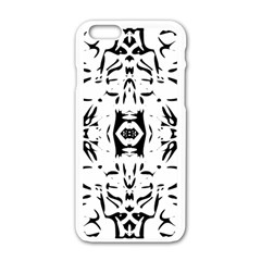 Nums Seamless Tile Mirror Apple Iphone 6/6s White Enamel Case by Alisyart