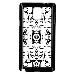 Nums Seamless Tile Mirror Samsung Galaxy Note 4 Case (black) by Alisyart
