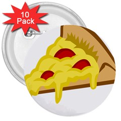 Pasta Salad Pizza Cheese 3  Buttons (10 Pack)