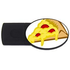 Pasta Salad Pizza Cheese Usb Flash Drive Oval (4 Gb) by Alisyart