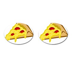 Pasta Salad Pizza Cheese Cufflinks (oval) by Alisyart