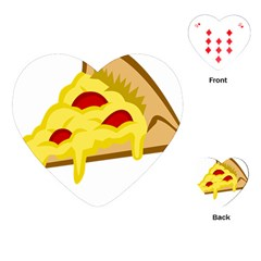 Pasta Salad Pizza Cheese Playing Cards (heart)  by Alisyart