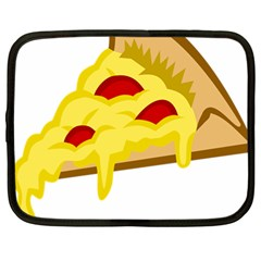 Pasta Salad Pizza Cheese Netbook Case (large) by Alisyart