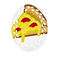 Pasta Salad Pizza Cheese Ornament (oval Filigree) by Alisyart