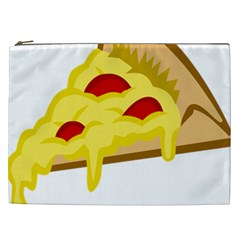 Pasta Salad Pizza Cheese Cosmetic Bag (xxl)  by Alisyart