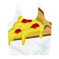 Pasta Salad Pizza Cheese Full Print Recycle Bags (l)  by Alisyart