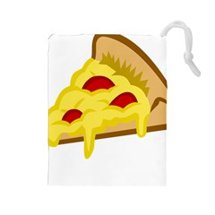 Pasta Salad Pizza Cheese Drawstring Pouches (large)  by Alisyart