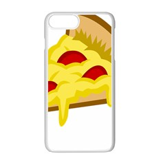 Pasta Salad Pizza Cheese Apple Iphone 7 Plus White Seamless Case by Alisyart