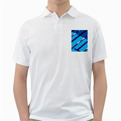 Minimal Swim Blue Illustration Pool Golf Shirts
