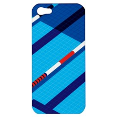 Minimal Swim Blue Illustration Pool Apple Iphone 5 Hardshell Case by Alisyart