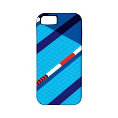 Minimal Swim Blue Illustration Pool Apple Iphone 5 Classic Hardshell Case (pc+silicone) by Alisyart