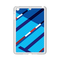 Minimal Swim Blue Illustration Pool Ipad Mini 2 Enamel Coated Cases