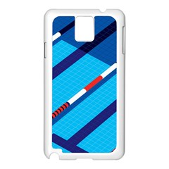 Minimal Swim Blue Illustration Pool Samsung Galaxy Note 3 N9005 Case (white) by Alisyart