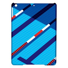 Minimal Swim Blue Illustration Pool Ipad Air Hardshell Cases