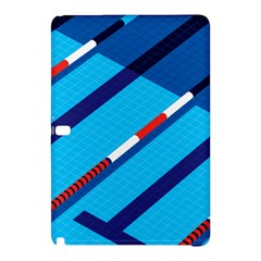 Minimal Swim Blue Illustration Pool Samsung Galaxy Tab Pro 10 1 Hardshell Case by Alisyart