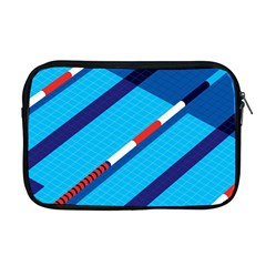 Minimal Swim Blue Illustration Pool Apple Macbook Pro 17  Zipper Case by Alisyart