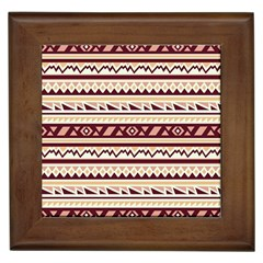 Pattern Tribal Triangle Framed Tiles by Alisyart