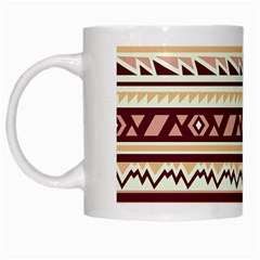 Pattern Tribal Triangle White Mugs by Alisyart