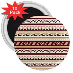 Pattern Tribal Triangle 3  Magnets (10 Pack)  by Alisyart