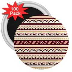 Pattern Tribal Triangle 3  Magnets (100 Pack) by Alisyart