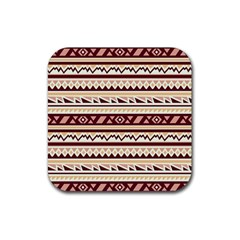 Pattern Tribal Triangle Rubber Square Coaster (4 Pack)  by Alisyart