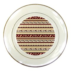 Pattern Tribal Triangle Porcelain Plates