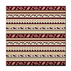 Pattern Tribal Triangle Face Towel by Alisyart